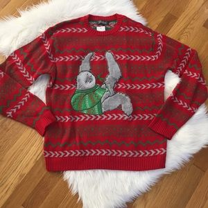 32 Degrees Sloth Ugly Christmas Holiday Sweater